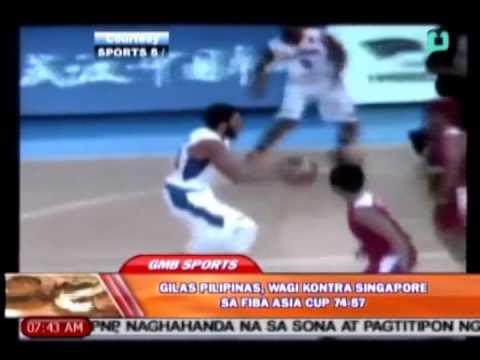 Sports lang: Gilas Pilipinas, wagi kontra Singapore sa FIBA Asia Cup 74-57 [07|15|14]