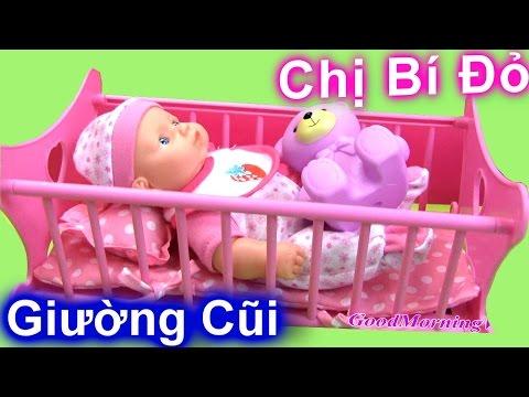 Đồ Chơi Giường Ngủ Cho Búp Bê - Chị Bí Đỏ Hát Ru Búp Bê Em Bé Ngủ