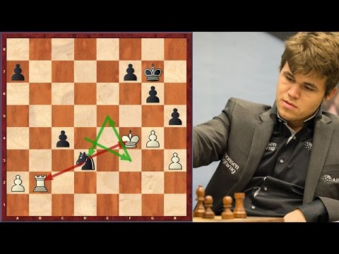 Carlsen Knocks Down His Opponent With A Knight Manoeuvre