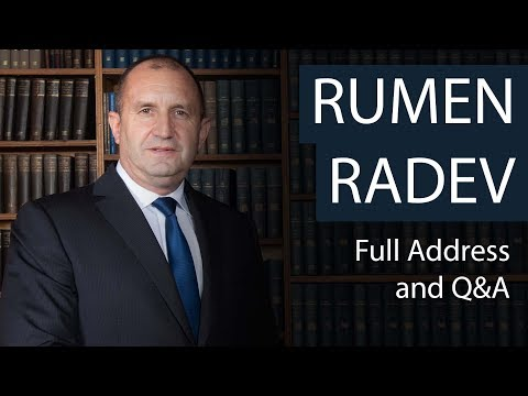 President Rumen Radev | Full Address and Q&A | Oxford Union