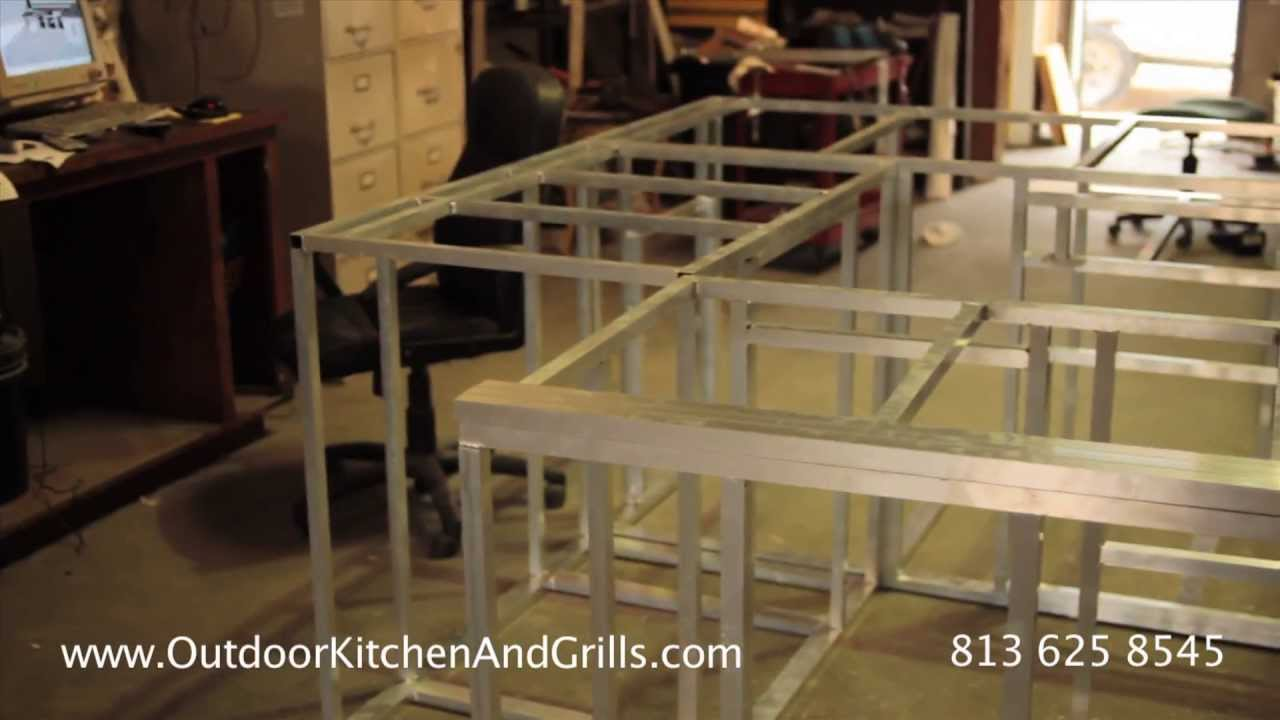 how to build outdoor kitchen aluminum frame for outdoor kitchen and