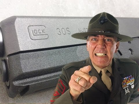 R Lee Ermey and new Glock 30S - Slow Mo #ShotShow 2013 - Shot Show