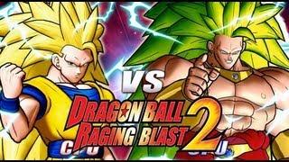 Dragon Ball Z Raging Blast 2 SSJ3 Goku Vs. SSJ3 Broly