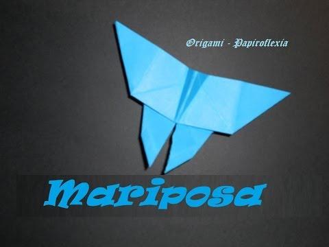 Origami - Papiroflexia. Tutorial: Mariposa, Facil.