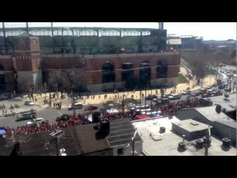 4/5/2013 - Baltimore Orioles home-opener against the Minnesota Twins (time-lapse 8:00 AM - 8:00 PM)