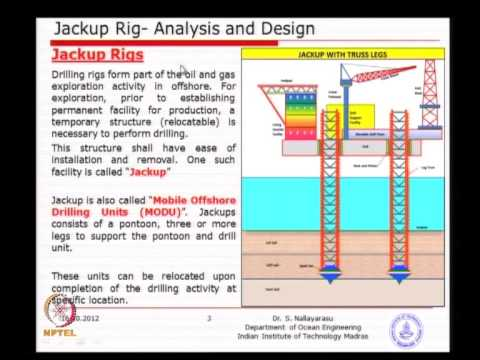 Mod-05 Lec-01  Jackup RIGS-Analysis and Design - 1