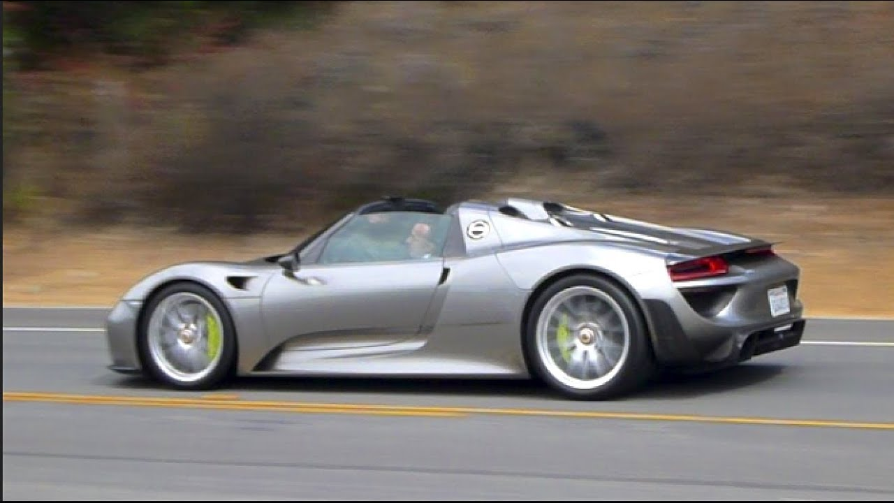 porsche 918 spyder full throttle acceleration engine starts up flyby sounds near crash. Black Bedroom Furniture Sets. Home Design Ideas