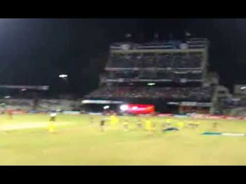 MS DHONI showing off his football skills before the match at FEROZE SHAH KOTLA STADIUM