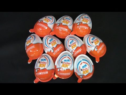 10 x Kinder Joy - Monster Academy (Monster Uni) Unboxing