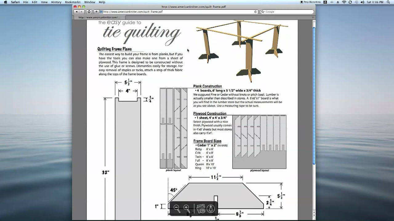 Tie Quilting Frame Plans Easy To Build Amp Free From