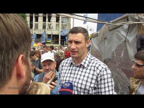 Віталій Кличко на Віче. Speech Vitali Klitschko on the Maidan.  1/06/2014