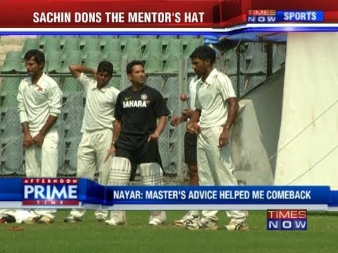 Sachin Tendulkar dons the mentor's hat