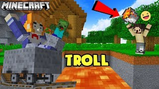 TROLL BẠN GÁI NẤM BẰNG ĐƯỜNG RAY MINECRAFT VÀ 1000 ZOMBIE - Oops Gumball Minecraft