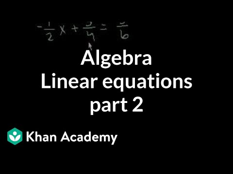 Linear Equations 2