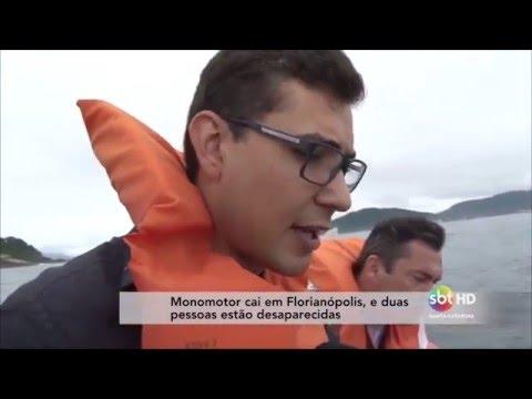 Monomotor cai em Florianópolis, e duas pessoas estão...