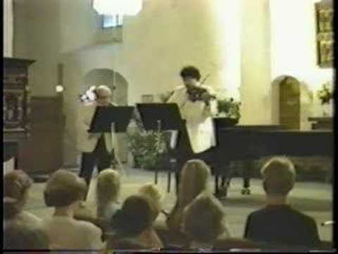Isaac Stern & Mark Peskanov play Leclair (2 of 3)