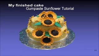 How To Make Gum Paste Sunflowers