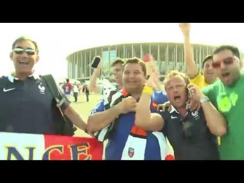 Les Bleus siegen und treffen auf Deutschland | Frankreich - Nigeria 2:0 | WM 2014 Brasilien