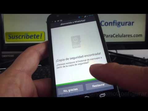 Como descargar instalar Whatsapp facebook en Android Motorola Moto G X T1032