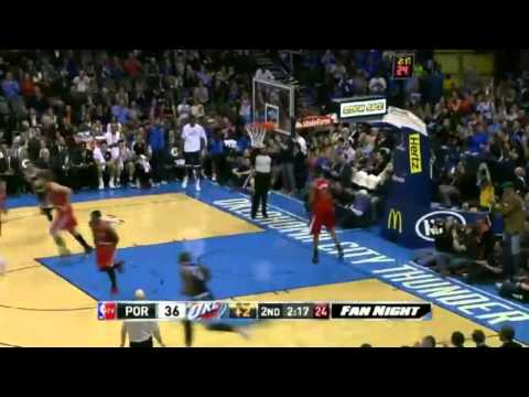 Portland Trail Blazers vs Oklahoma City Thunder Highlights - December 31, 2013