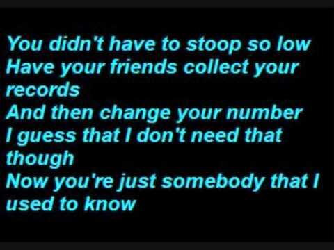 Gotye somebody that i used to know lyrics music for Haute u should know lyrics