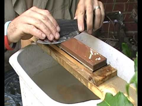 Knife sharpening with King Japanese Water Stones