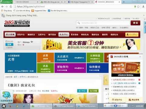hướng dẫn nhận code vé vàng sever china