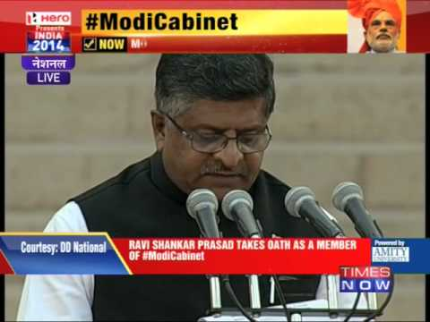 Ravi Shankar Prasad takes oath as member of Modi Cabinet