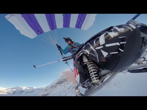 Flying snowmobile   1,5km High mountain
