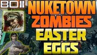 "BO2 ""Nuketown Zombies All Easter Eggs Explained + Moon Map"