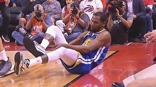 Kevin Durant Injury Again & Raptors Crowd Cheer Then Give Applause In Game 5 Return!
