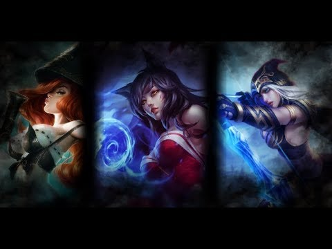 League Of Legends Ashe|Ahri|Miss Fortune GamePlay Vs Bots