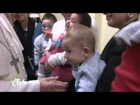 Pope Francis visits a Roman parish