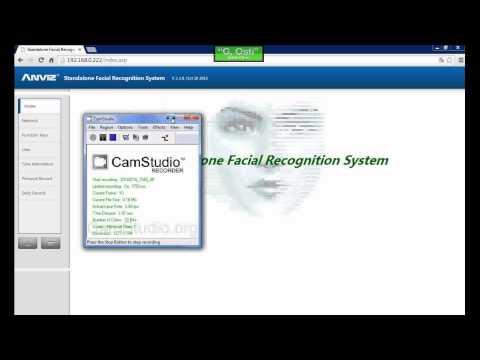 FacePass Pro lettore a riconoscimento facciale gestione del Web Server
