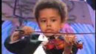 Andre Rieu & Akim Camara (aged 5) In New York 2007