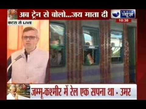 Omar Abdullah thanks Modi for Katra-Udhampur rail link