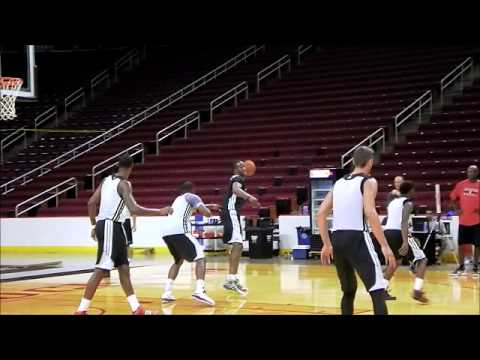 Dwight Howard - First scrimmage footage as a Houston Rocket