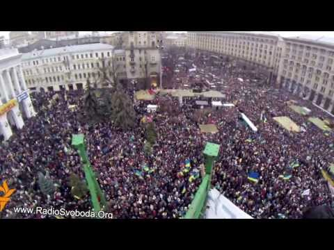 Ukraine's capital Kiev gripped by huge pro-EU demonstration - 08.12.2013