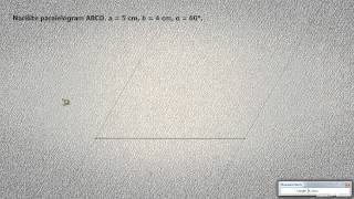 Risanje paralelograma 1