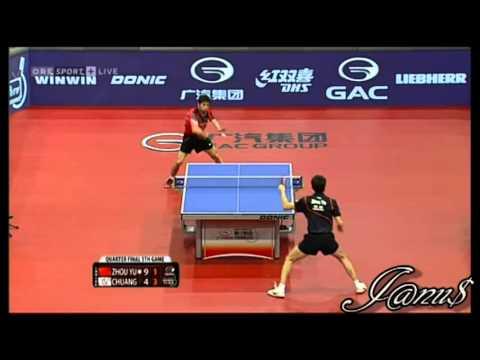 2013 Austrian Open (ms-qf) ZHOU Yu - CHUANG Chih-Yuan [Full Match/Short Form]