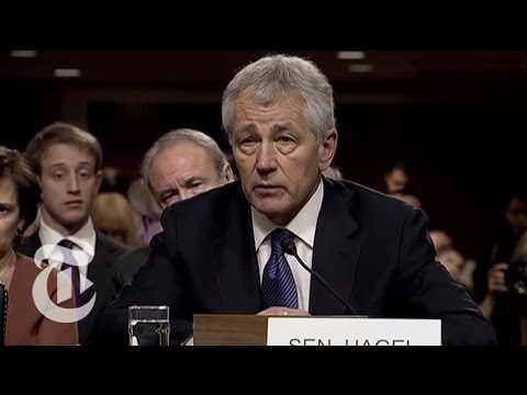 Chuck Hagel Spars With John McCain Over Iraq 'Surge' at Hearing