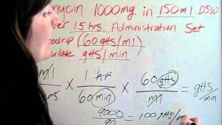 IV Drip Calculations.