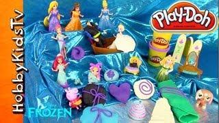 Disney FROZEN Surprise PLAY-DOH Toys! [Elsa] [Anna