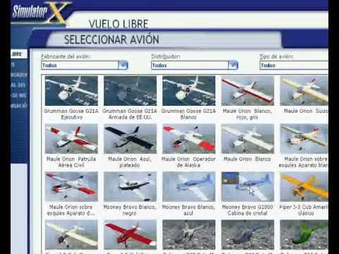 descargar aviones para flight simulator x