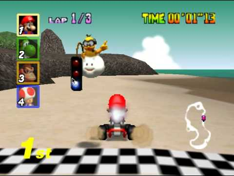 Mario Kart 64 - Mario Kart 64 (N64) - Vizzed.com Play - User video