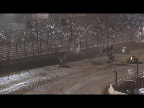 18th Annual Budweiser Oval Nationals 11-1-13 :: USAC National & USAC/CRA Sprint Cars