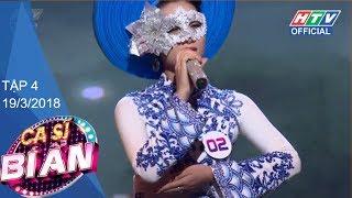 """HTV CA SĨ BÍ ẨN   MÙA 2   Nam Trung và Xuân Lan """"tâm đầu ý hợp""""   CSBA #4 FULL   19/3/2018"""