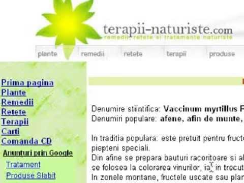 Video-Prezentarea sitului www.terapii-naturiste.com (tratamente, retete pentru 300 de afectiuni)