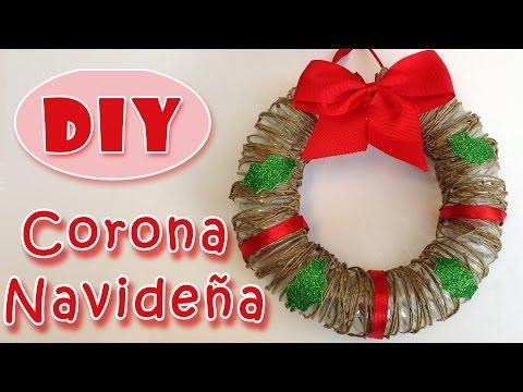 Manualidades navideñas .Corona de navidad de cuerda.Christmas Wreath