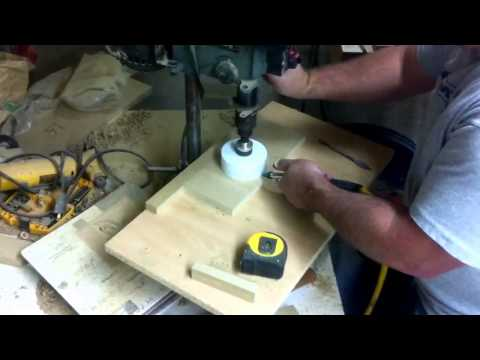 Cheap DIY Belt Sander 2b. Making the roller blanks